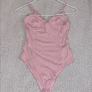 EUC pink bodysuit